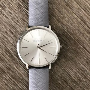 Michael Kors Stainless Steel Leather Watch